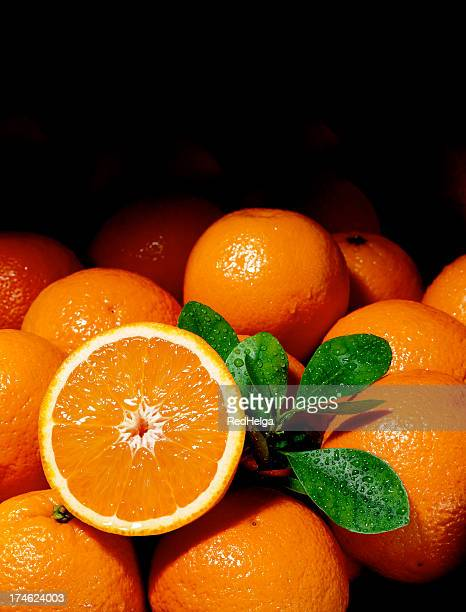 oranges background - bisected stock pictures, royalty-free photos & images