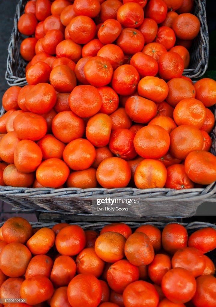 Oranges for sale : Stock Photo