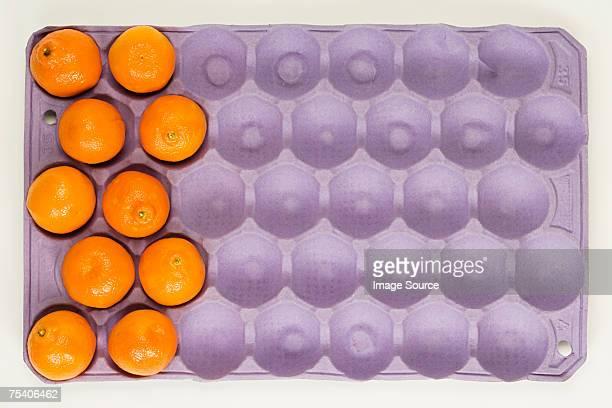 Oranges in a carton