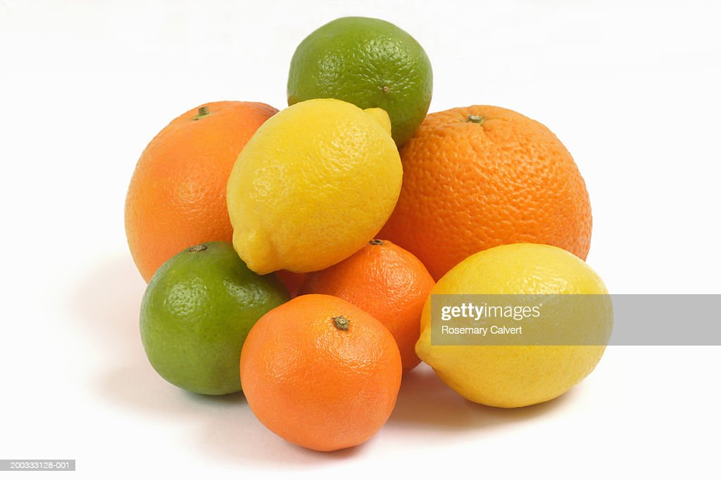 Oranges, lemons, limes and satsumas : Stock Photo