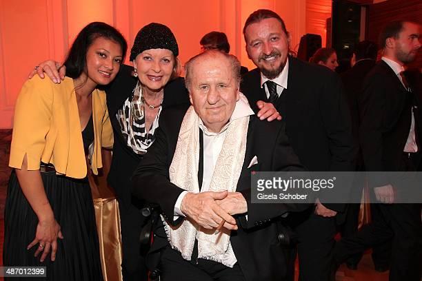 Orathai Spiehs Angelika Spiehs and Karl Spiehs and son David Spiehs attend the 25th Romy Award 2014 at Hofburg Vienna on April 26 2014 in Vienna...