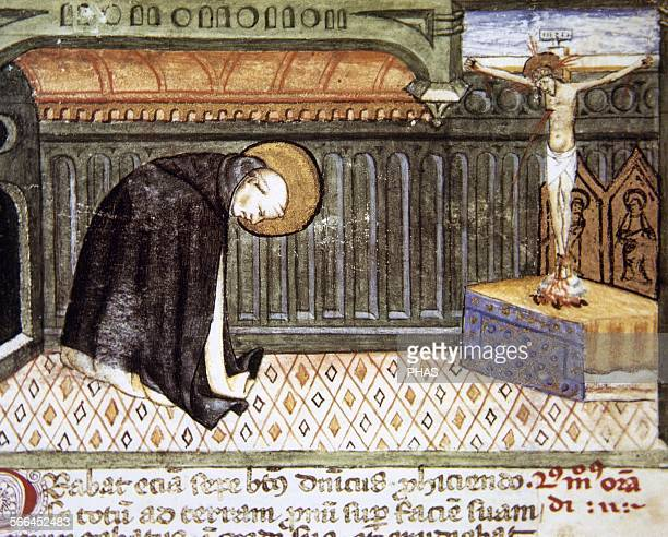 Oratores Right way to pray Miniature at Theologica Varia 14th15th centuries Folio 6r Vatican Apsotolic Library Vatican City