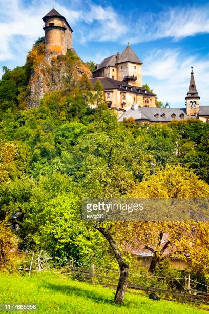 orava castle, slovakia - halberd stock pictures, royalty-free photos & images