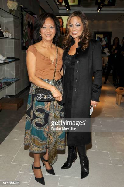 Orawaa Cevey and Orianne Collins attend ORIANNE COLLINS Celebrates Opening of US OC CONCEPT STORE at OC Concept Store on October 14 2010 in New York...