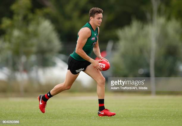 Orazio Fantasia of the Bombers in action during the Essendon Bombers training session at The Hangar on January 12 2018 in Melbourne Australia