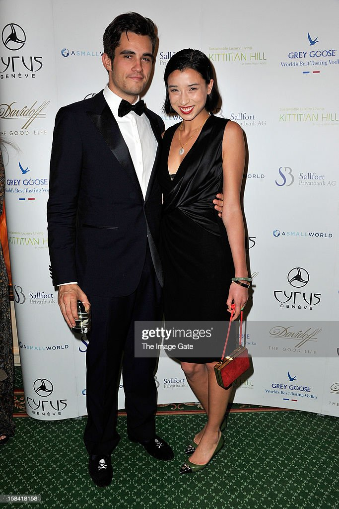 Orazio Rispo and Lily Kwong attend the ASMALLWORLD Gala Dinner for Alzheimer Society at the Gstaad Palace Hotel on December 15, 2012 in Gstaad, Switzerland.