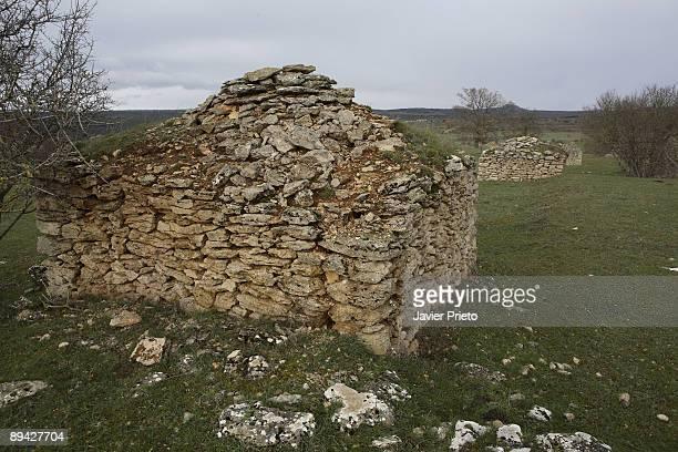 Orbaneja del Castillo Burgos Castilla y Leon Spain Rural road