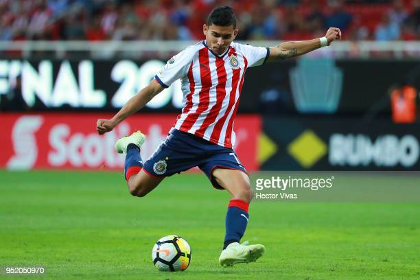 Orbelin Pineda of Chivas drives the ball during the second leg match of the final between Chivas and Toronto FC as part of CONCACAF Champions League...