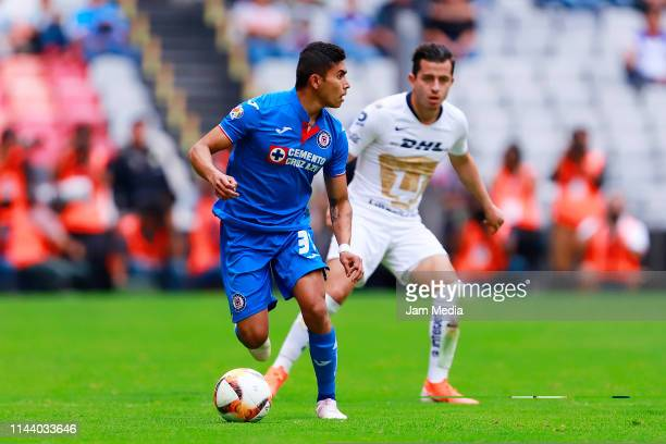 Orbelin Pineda of Cruz Azul drives the ball during the 15th round match between Cruz Azul and Pumas UNAM as part of the Torneo Clausura 2019 Liga MX...