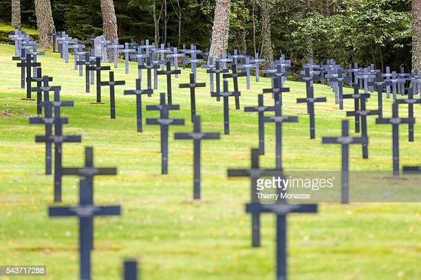 Orbey HautRhin Alsace France August 28 2014 German Military cemetary of the Col du Linge