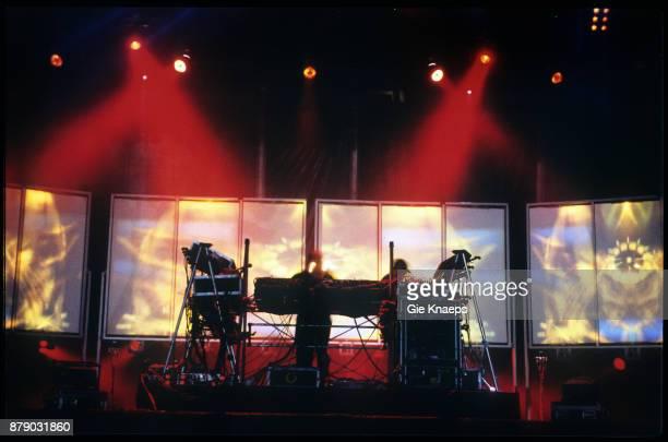 Orbital Phil Hartnoll Paul Hartnoll performing on stage Pukkelpop Festival Hasselt Belgium 28th August 1999
