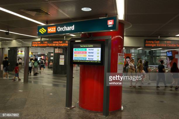 Orchard MRT Station in Singapore