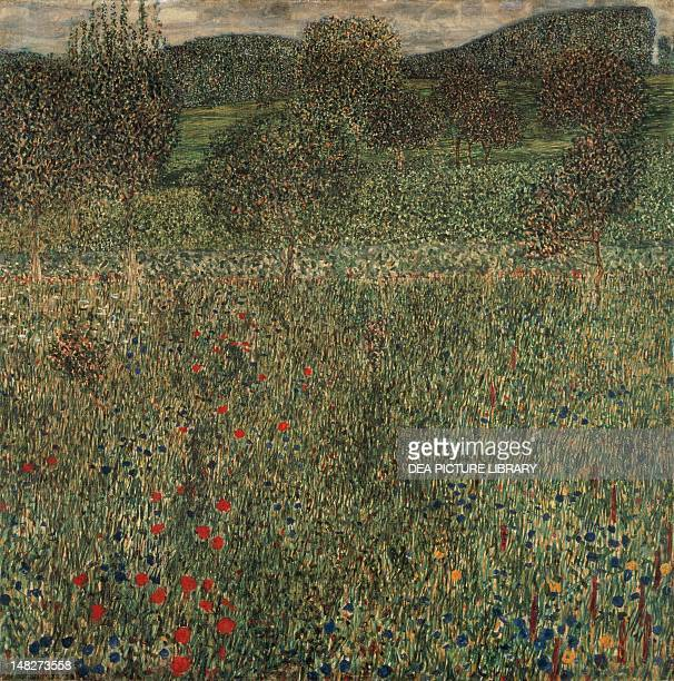 Orchard or Field of flowers ca 1905 by Gustav Klimt oil on canvas 99x99 cm Pittsburgh Carnegie Museum Of Art