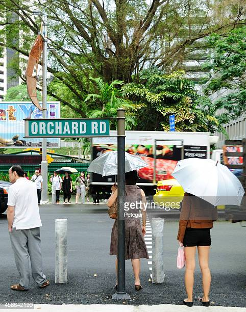 orchard road, singapur - orchard road fotografías e imágenes de stock