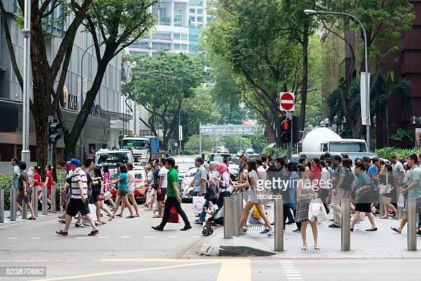 orchard road singapore - orchard road fotografías e imágenes de stock