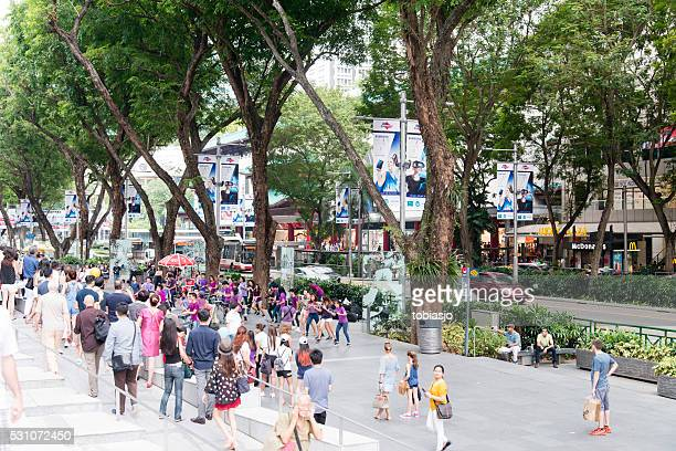 orchard road singapore - orchard road stock pictures, royalty-free photos & images