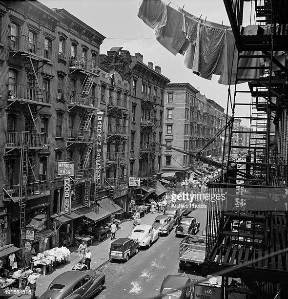 Orchard Street, on the Lower East Side of Manhattan, New York City, USA, circa 1955.