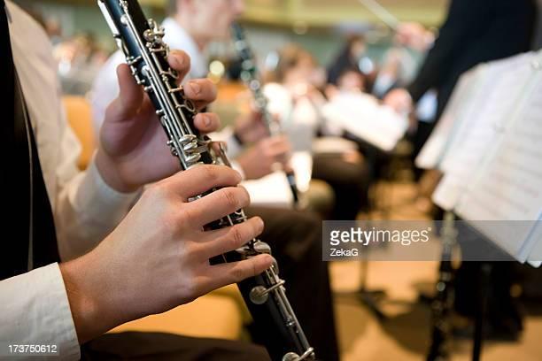 Orchestre Clarinette joueur