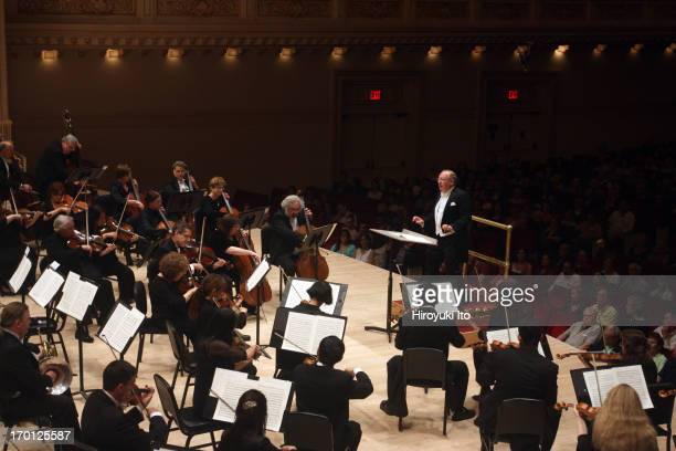 Orchestra of St Luke's performing at Carnegie Hall on Saturday night June 1 2013This imageNicholas McGegan leading the Orchestra of St Luke's in the...
