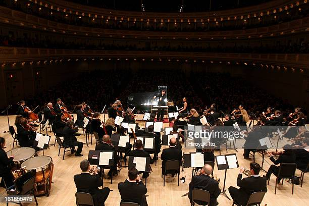 Orchestra of St Luke's with Xian Zhang conductor and Hélène Grimaud piano in performance on Sunday February 3 2008 at Carnegie Hall