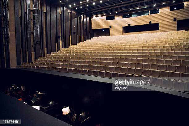 orchestra pit and theatre seats - concert hall stock pictures, royalty-free photos & images