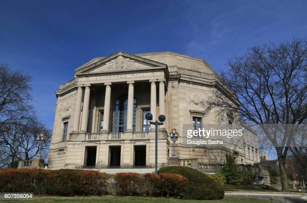 orchestra's symphony hall, severance hall, cleveland, ohio, usa - cleveland ohio stock photos and pictures