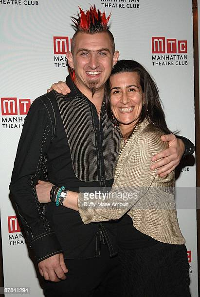 Orchestrator John Clancy and Composer Jeanine Tesori attend the 2009 Manhattan Theatre Club's spring gala at Cipriani 42nd Street on May 18 2009 in...