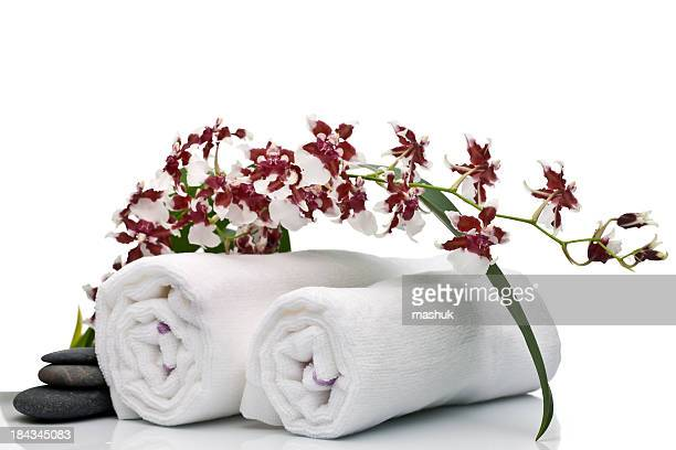 Orchid and towels