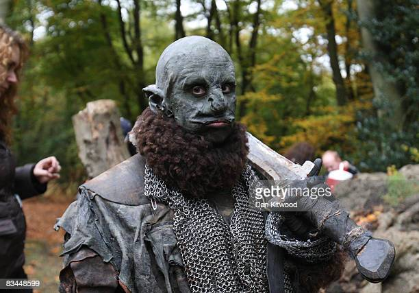 Orcs take a rest from filming in Epping Forest for a new chapter based on the epic trilogy 'The Lord Of The Rings' on October 25 2008 in London...