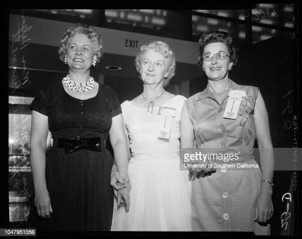 Order of Eagles convention 24 June 1960 Mrs Lois Nelson Mrs Helen Boyd Mrs Carol Bennett Caption slip reads 'Photographer Tompkins Date Reporter...