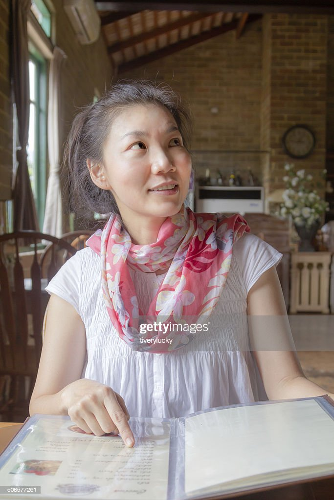 Ordering in restaurant : Stock Photo