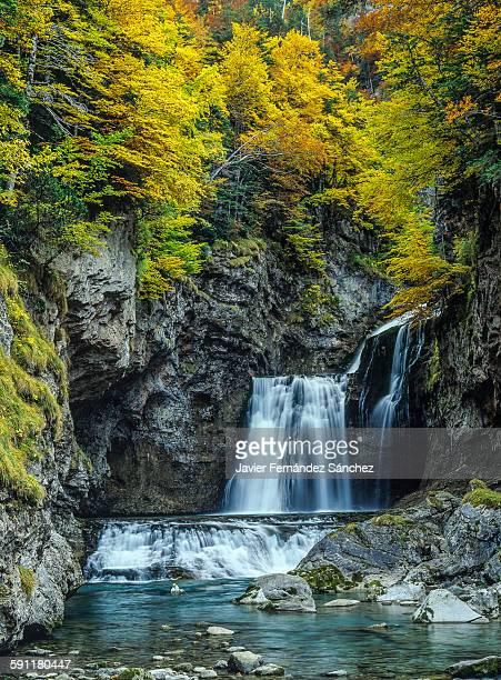 Ordesa National Park. Arazas river. Waterfall