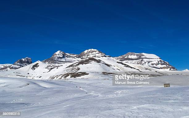 ordesa national park - snowfield stock pictures, royalty-free photos & images