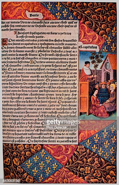 L'Ordinaire des Crestiens' 1494 From The Art of the French Book edited by André Lejard [Paul Elek London 1947] Artist Unknown