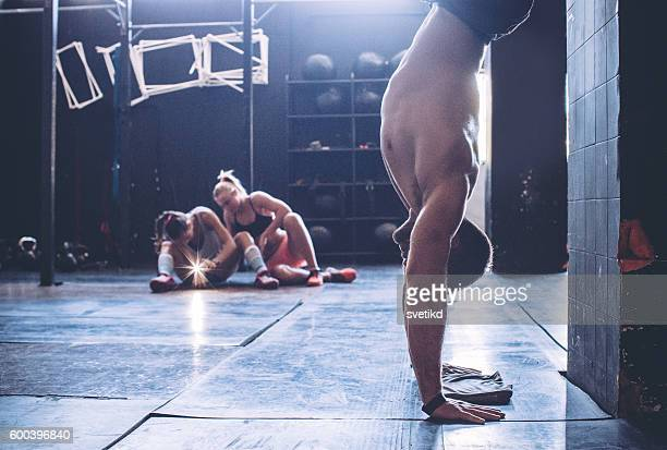 ordinary day at the gym - handstand stock pictures, royalty-free photos & images