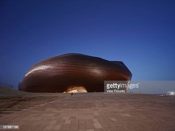 Ordos Museum Mad Architects Ordos Inner Mongolia China General Exterior Elevation Of Futuristic Shell Structure At Dusk Mad Architects China Architect
