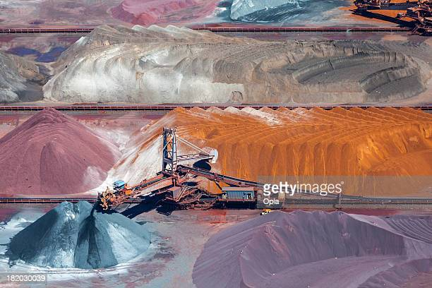 Ore and conveyor belt aerial