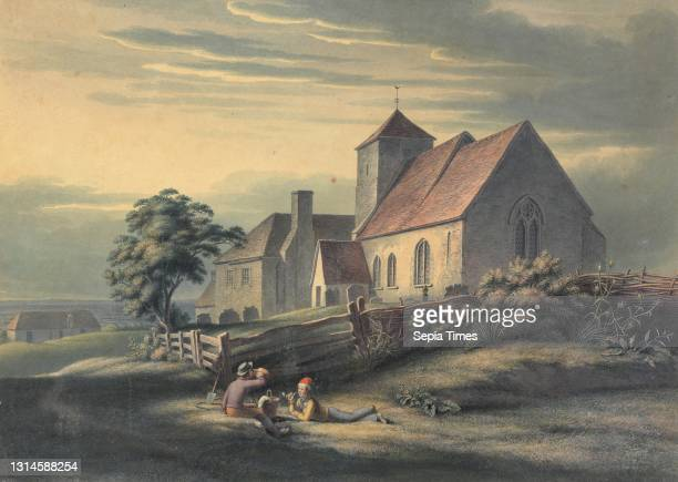 Ore Church and House, Henry Morton, ca. 1807–1825, British, undated, Watercolor with pen and ink on medium, slightly textured, cream wove paper,...