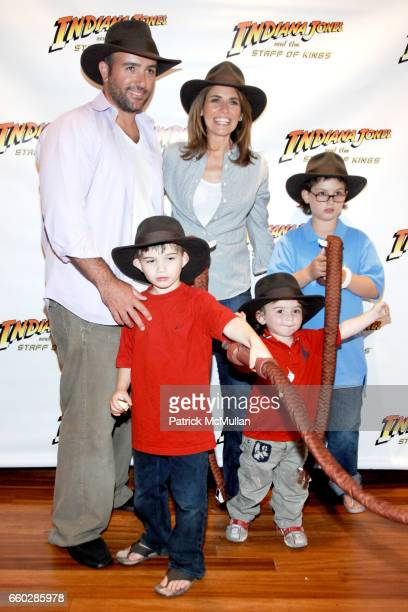 Ore Glick Kyle Glick Alexis Glick Slate Glick and Logan Glick attend PreRelease Party for LucasArts New Videogame INDIANA JONES and The STAFF OF...