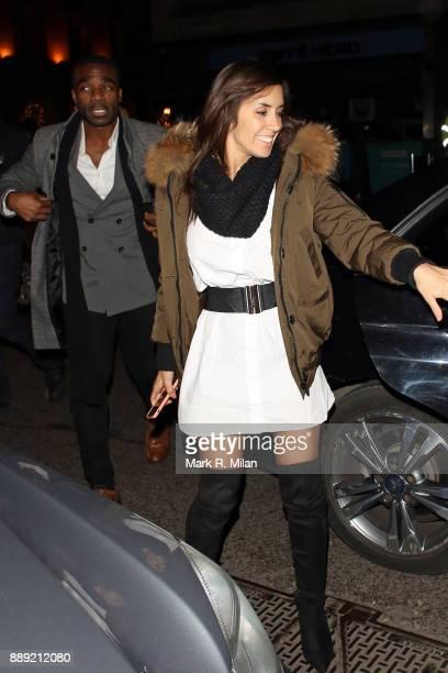 Ore Oduba and Janette Manrara at Mahiki Mayfair on December 9 2017 in London England