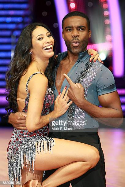 Ore Oduba and Karen Clifton attend the photocall for the 'Strictly Come Dancing' live tour on January 19 2017 in Birmingham England