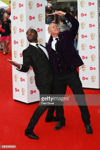 Ore Oduba and Robert Rinder attend the Virgin TV BAFTA Television Awards at The Royal Festival Hall on May 14 2017 in London England