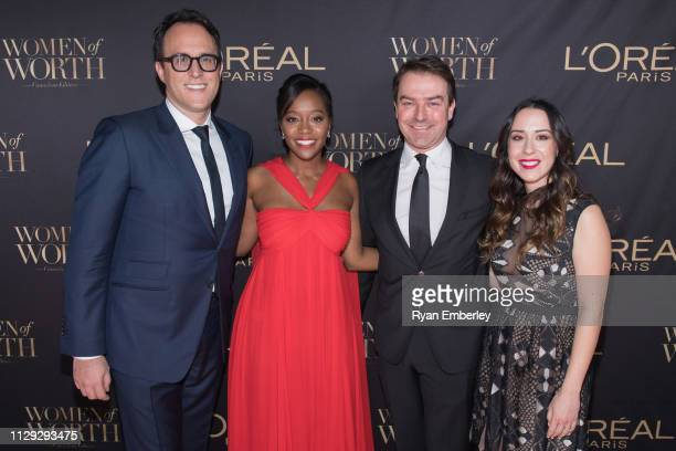 L'Oreal General Manager Milan Mladjenovic Aja Naomi King L'Oreal Canada CEO and president Frank Kollmar and Head of Communications for L'Oreal Paris...