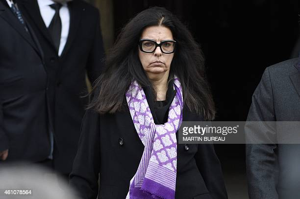 L'Oreal heiress Francoise BettencourtMeyers leaves after attending the funeral ceremony for French journalist Jacques Chancel at the...