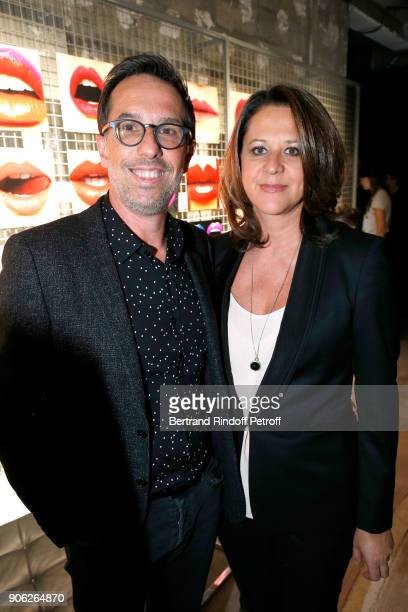 Oreal Nicolas Hieronimus and his wife Geraldine attend the 'YSL Beauty Hotel' event during Paris Fashion Week Menswear Fall/Winter 20182019 on...