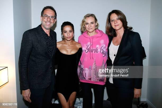 DG L'Oreal Nicolas Hieronimus YSL Beauty Makeup Ambassadress Zoe Kravitz actress Diane Kruger and Nicolas' wife Geraldine Hieronimus attend the 'YSL...