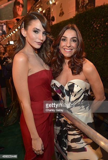 Oreal Paris new spokesperson Genesis Rodriguez and L'Oreal Paris blogger ambassador Kika Rocha attend the 15th Annual Latin GRAMMY Awards at the MGM...