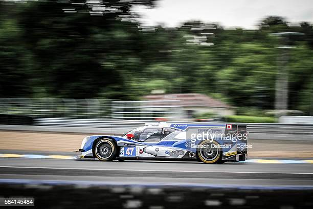 #47 Oreca 05 Nissan with Drivers Tsugio Matsuda Matthew Howson and Richard Bradley during the 84th running of the Le Mans 24 Hours on June 16 2016 in...