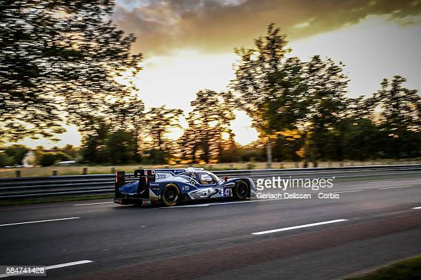 #47 Oreca 05 Nissan with Drivers Tsugio Matsuda Matthew Howson and Richard Bradley during the 84th running of the Le Mans 24 Hours on June 18 2016 in...