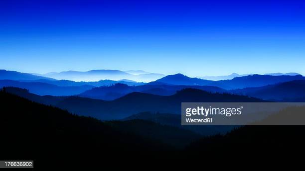 usa, oregan, view of blue mountains - katoomba stock pictures, royalty-free photos & images